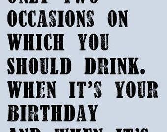 Funny Drinking Birthday Card