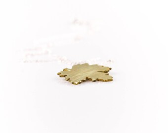 Necklace with gold  leaf, Maple leaf pendant,  Gift for her