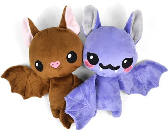 Bat Plush Stuffed Animal in Minky Faux Fur