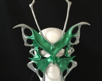 GREEN BUTTERFLY MASK - Fairy Mask, Fairy CosPlay, Butterfly Costume for Halloween Costume or Renaissance Faire Carnival Masquerade Ball