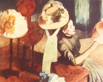 Millinery Shop, by Degas - a Frameable, Vintage 1952 Frameable Art Print