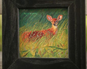 Fawn at Dusk (original oil painting)