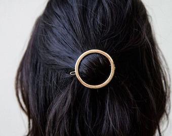 Interior Design hairpin round gold minimalist jewelry bridal wedding hair Jewelry