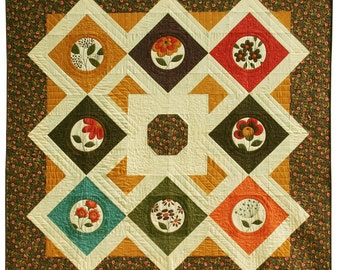 Sandy Gervais Essence Panel Quilt Pattern Pieces From My Heart