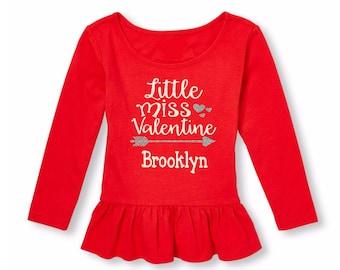 Monogram Valentine's Shirt-Toddler Baby Valentine Outfit-Girls Valentine's Shirt-Valentine's Day Shirt-Girls Valentine Outfit-Valentines Day