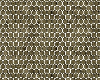 Honeycomb Fabric, Quilting Bs, J Wecker Frisch, Quilting Cotton, Fabric By The Yard. Bees, Fabric, Dark Grey Honeycomb, Bee Fabric