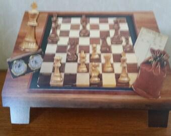 Chess board shaped card