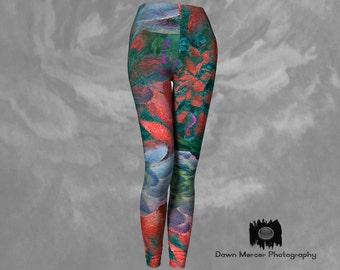 Art Leggings Printed Tights Colourful Yoga Pants Art Print leggings Yoga Tights