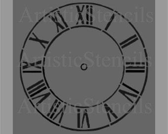 STENCIL Antique Clock 10 Inch - Various sizes
