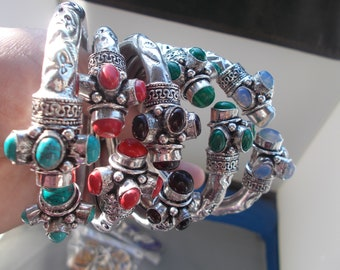 german silver bracelets colorful for all occassions......