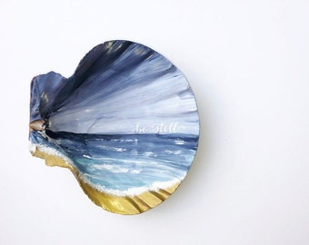Be Still// Painted Sea Shell