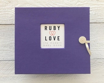 Solid Purple | BABY BOOK - Reserved Listing for michrizk