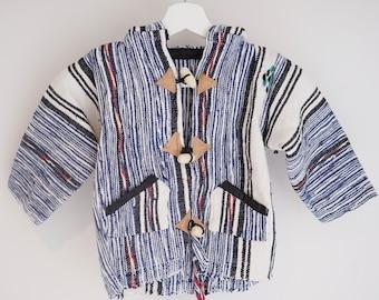 Baja kids Hoodie - 100% cotton handmade ethically Moroccan children's hoodie