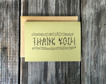 Woodland Thank You Card Pack, College Graduation Thank You Card Set, Nature Thank You Cards Set