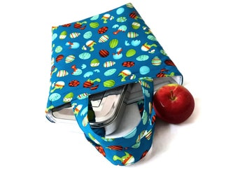 Easy to sew insulated lunch bag - sewing pattern & tutorial PDF download ePattern