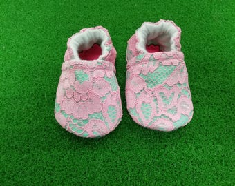 Green Baby Shoe Toddler Booties Newborn Slippers Soft Soled Crib Shoes