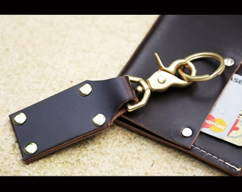 Leather key fob - leather keychain