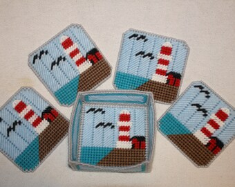 Light house coaster set