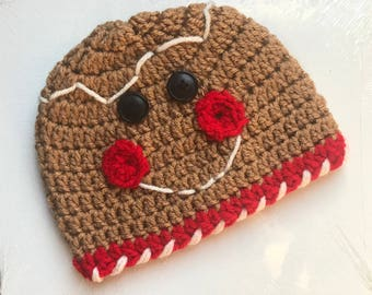 Baby Gingerbread Beanie Style Christmas Hat