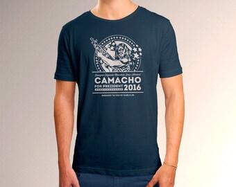 """Idiocracy """"Prezident Camacho 2016"""" Men's T-Shirt"""