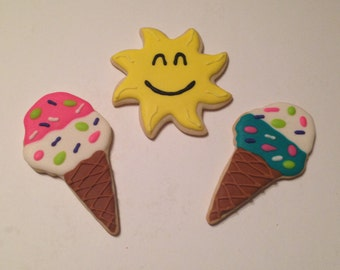 Ice Cream Cones and Sun Sugar Cookies