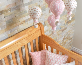 Mobile hot air balloon, mobile, crib, mobile room child, hot air balloon mobile, personalized baby gift, shower