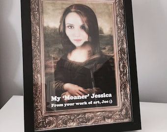 Personalised 'My Moaner' Print with Frame