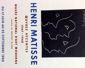 """Matisse 41 """"Heuvres Recentes""""  1959 Mourlot Art in posters"""