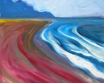 Coast Drama 6 original abstract landscape oil painting