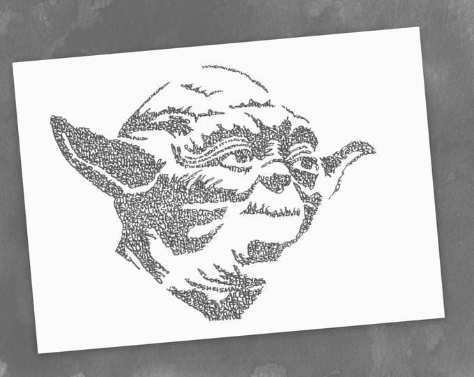 Yoda - Jedi Master A Limited Edition Print of a Hand-lettered Image