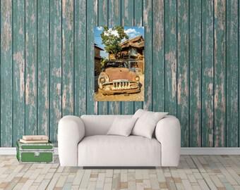 Old Car Decor, Vintage Car, Classic Car, Retro Car, Car Print, Car Photo, Car Art, Photography Print, Extra Large Wall Art, Huge Canvas Art