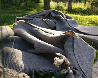 Extra large wool men's scarf/ shawl/ wrap / oversized neck scarf