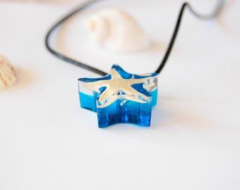Blue Resin Jewelry Starfish