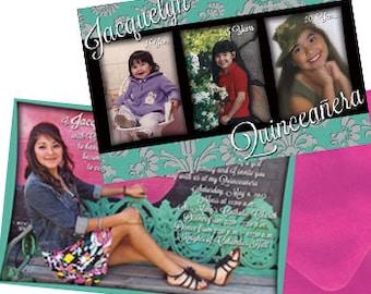 Quinceanera Invitation Sweet 15 Invitation Mis Quince Anos Invitation