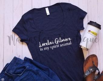 LORELAI GILMORE is my SPIRIT Animal black fitted tee