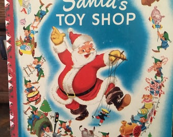 Vintage Walt Disney's Santa's Toy Shop Little Golden Book, D16