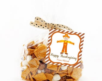 Thanksgiving Treat Tags, Printable Thanksgiving tags, Thanksgiving Gift Labels, Thanksgiving Favor Tags, Happy Thanksgiving Tags, Scarecrow