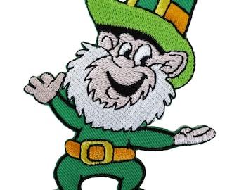 Leprechaun Patch Irish Embroidered Sew / Iron On Badge Ireland St Patricks Day