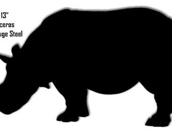 Rhinoceros Black Laser Cut Out Sign 23x13 RG8158B