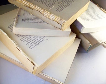 5 lbs of vintage book pages and paper in bulk