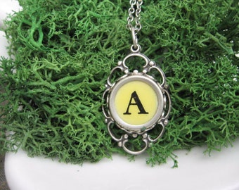 Typewriter Key Jewelry - Typewriter Necklace - Letter A - Typewriter Charm - Vintage Key