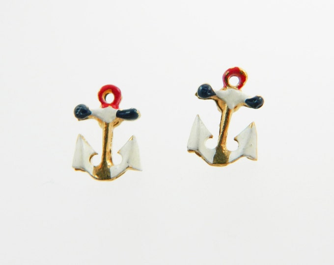 Featured listing image: Vintage Anchor Stud Earrings