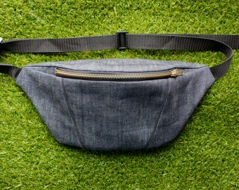 Dark Blue Denim Bumbag/Fanny Pack/ Festival Bag