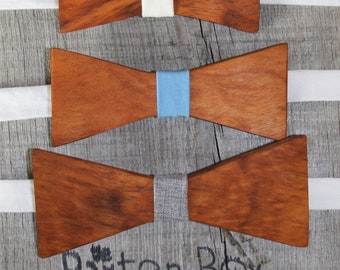 READY TO SHIP ---- Hardwood Bow ties for little boys