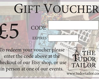 Gift Voucher / Gift Card - 5 Pounds
