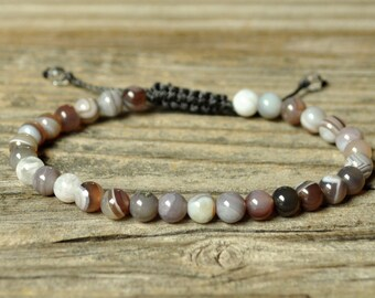 Crown Chakra Bracelet, Botswana Agate Bracelet, Yoga Bracelet, Meditation Bracelet, Chakra Healing, Crystal Healing, Beaded Bracelet, Mala