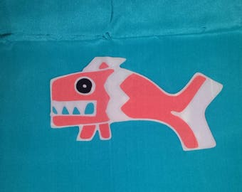 Vintage Animal -Elephant-fish Art Scarf 70's 100% silk * Art Waves Inc...Ethnic Turquoise,Gator-Elephant Bo Ho gypsy Scarf