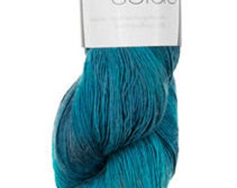 Lace weight Mulberry Silk - Handdyed - Teal
