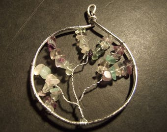 Tree of life ring natural fluorite