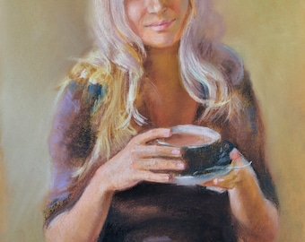 Custom portrait painting, Pastel portrait painting